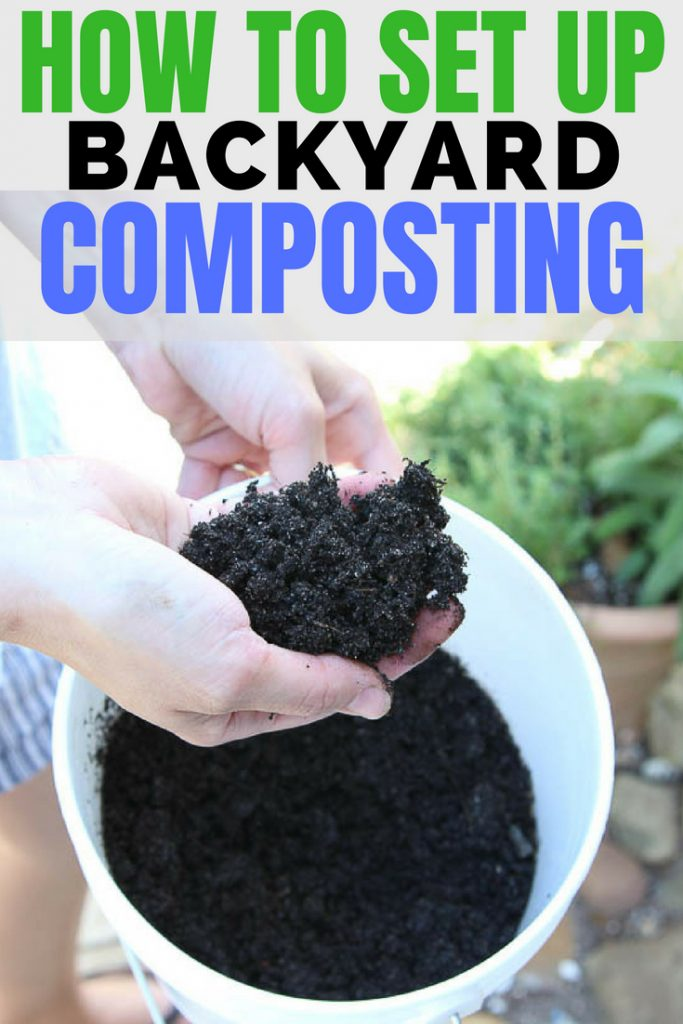 How to set up backyard composting. How to start a compost pile in your backyard. composting tips