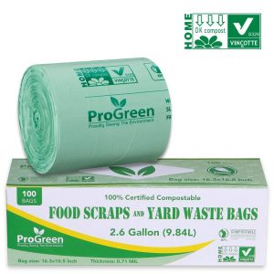 Green compost bags