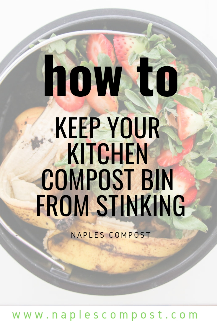 How to keep your kitchen compost bins from stinking #compost #kitchencompost #foodwaste #ecofriendly