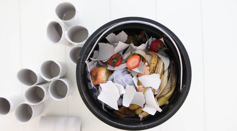 Tips for keeping a countertop compost bin from getting stinky