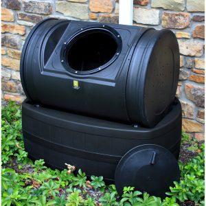 Rain barrel composter hybrid