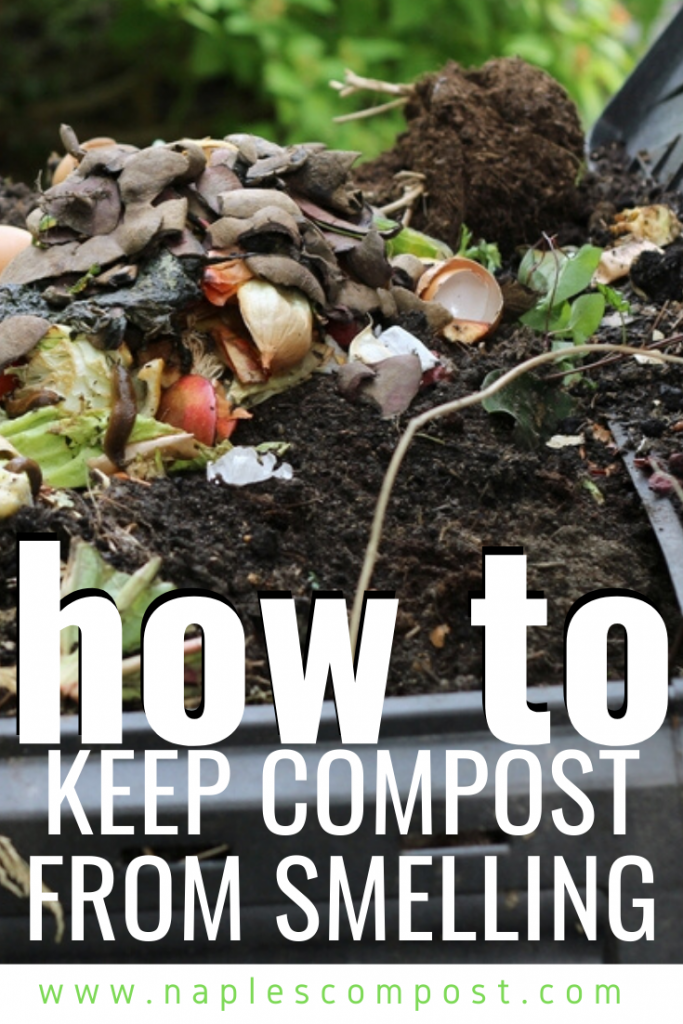 How to keep compost from smelling