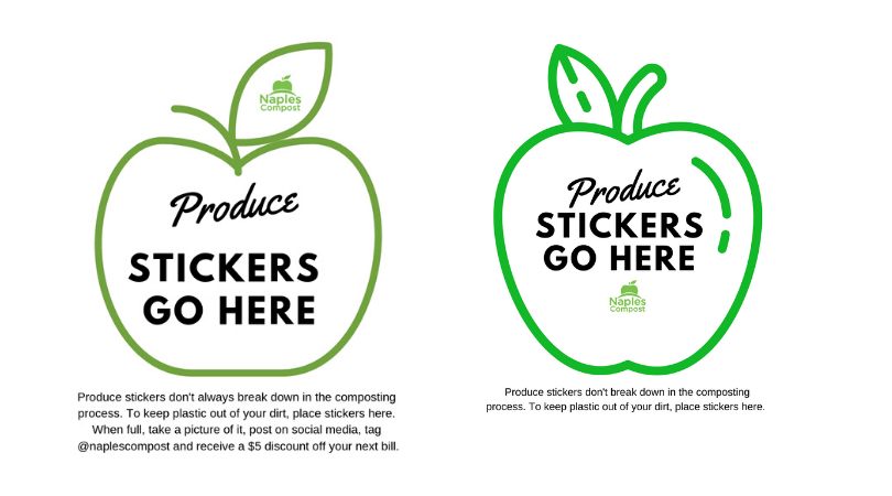 Produce sticker collection sheets