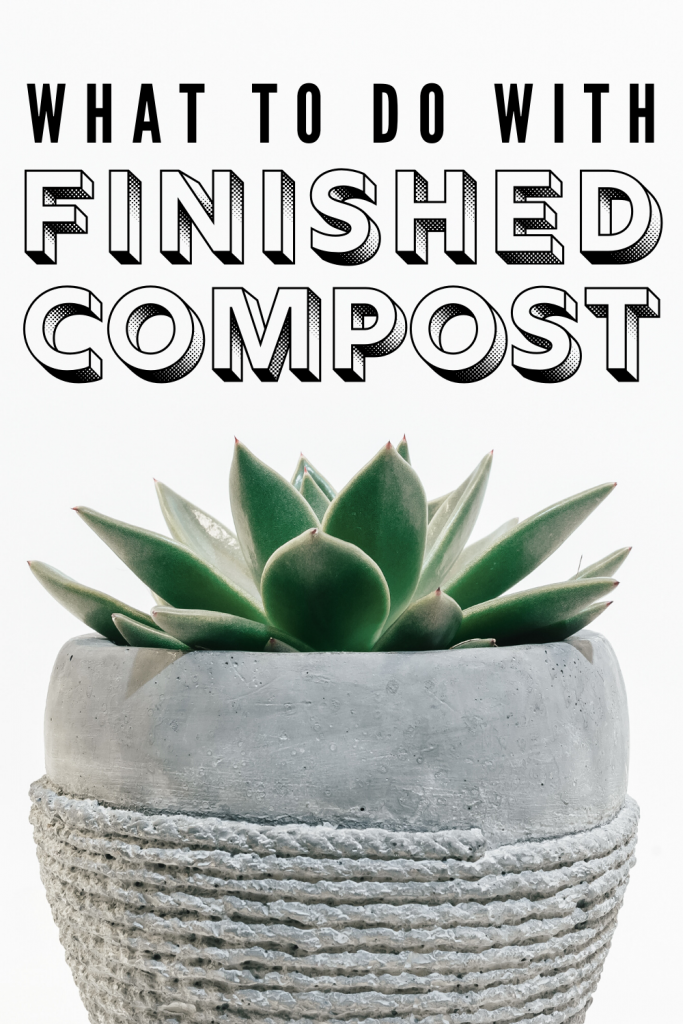 how to use finished compost on houseplants