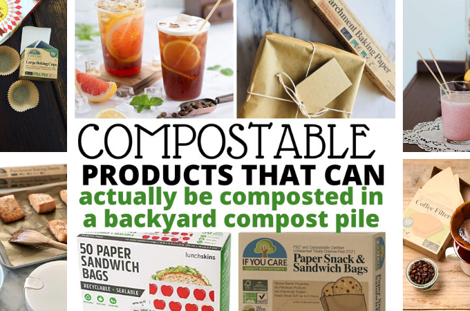 compostable products for the compost pile