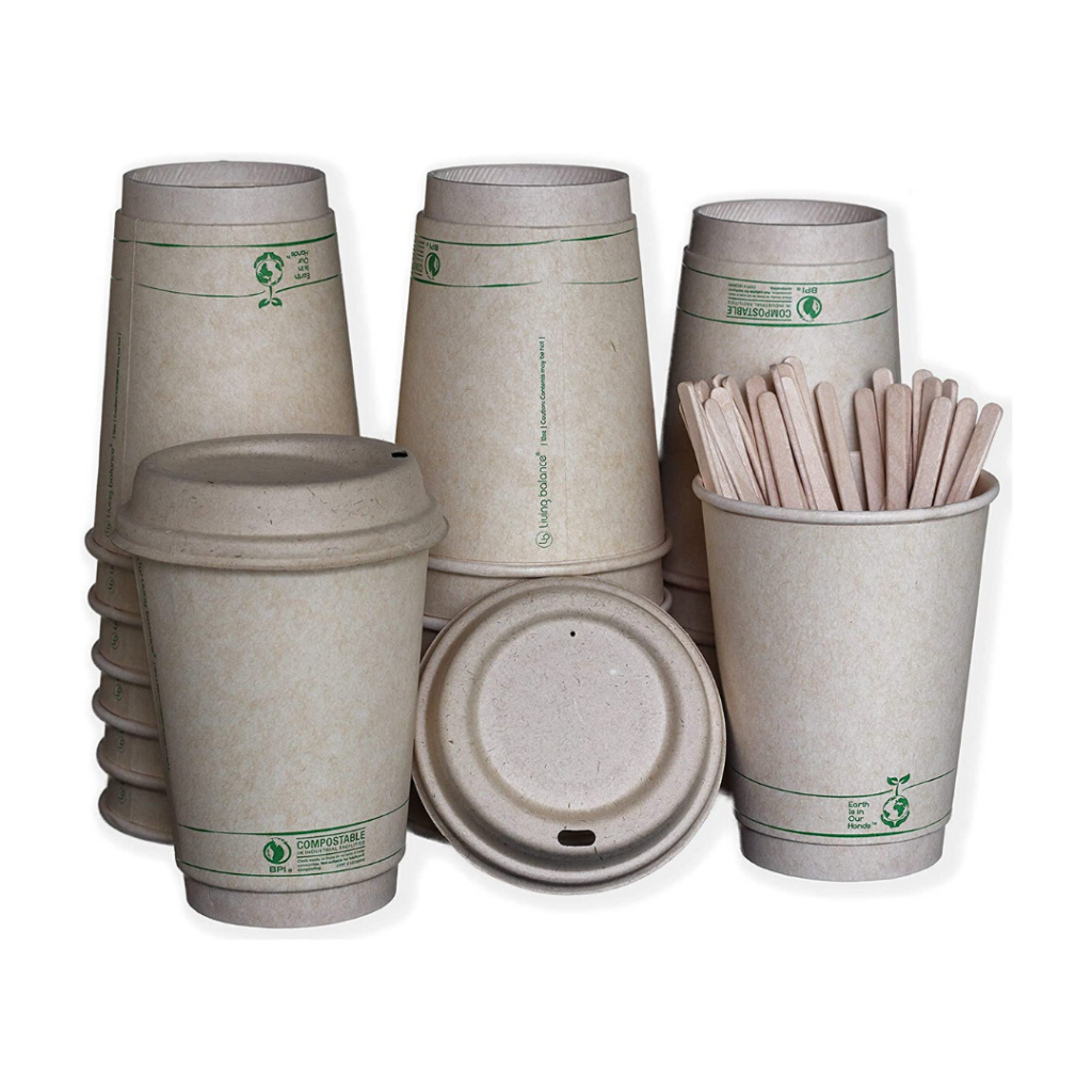 Compostable coffee cups