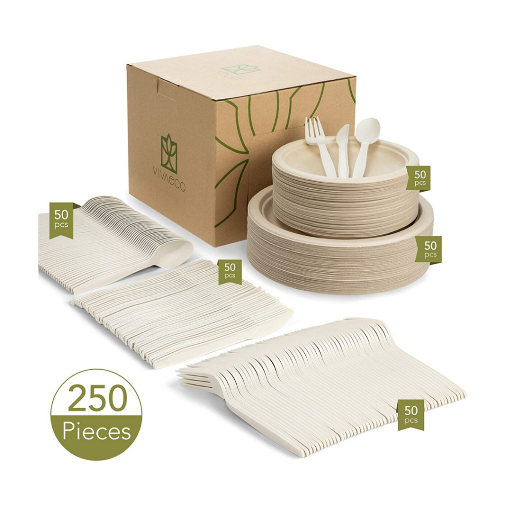 Compostable plates and utensils
