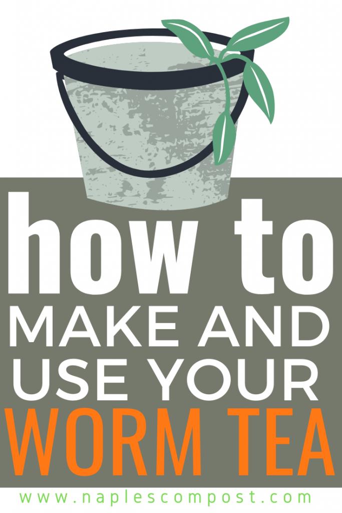 how to make and use worm tea